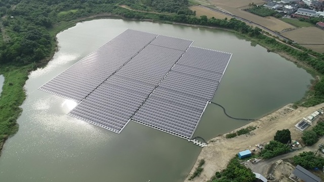 烏山頭水庫設置太陽光電