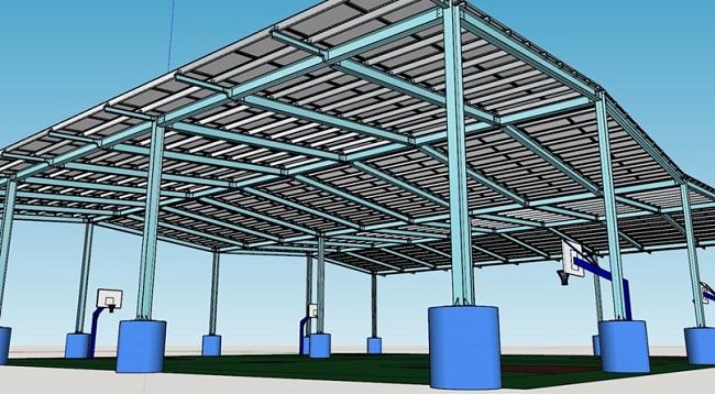 臺中首座太陽能光電風雨球場