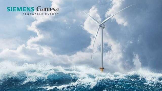 西門子歌美颯最新 SG 14- 222 DD 離岸風機裝置容量高達14MW。(圖:西門子歌美颯提供)